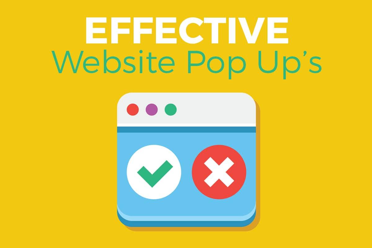 Website Pop Up Website Design Windsor