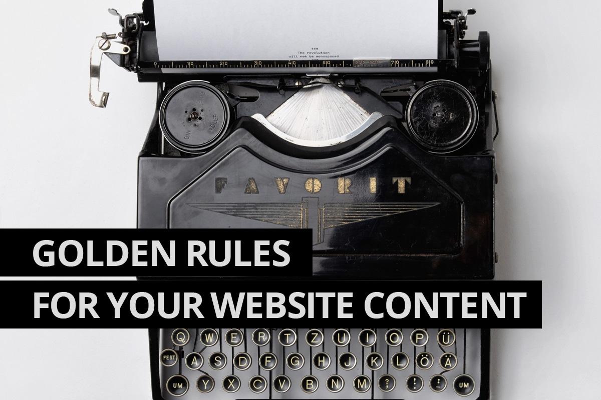 Golden Rules of website content - Website Design Leamington