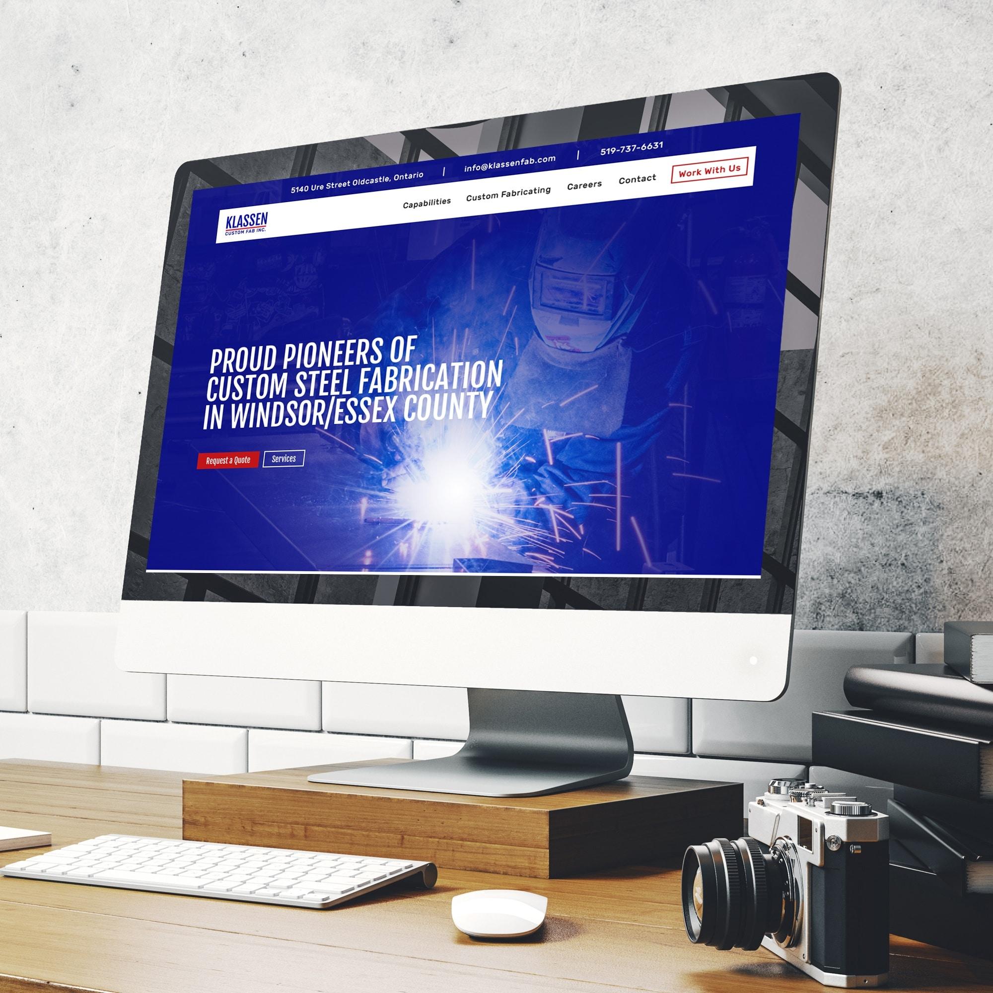 Klassen Fabricating Website Design Windsor by Cowlick Studios
