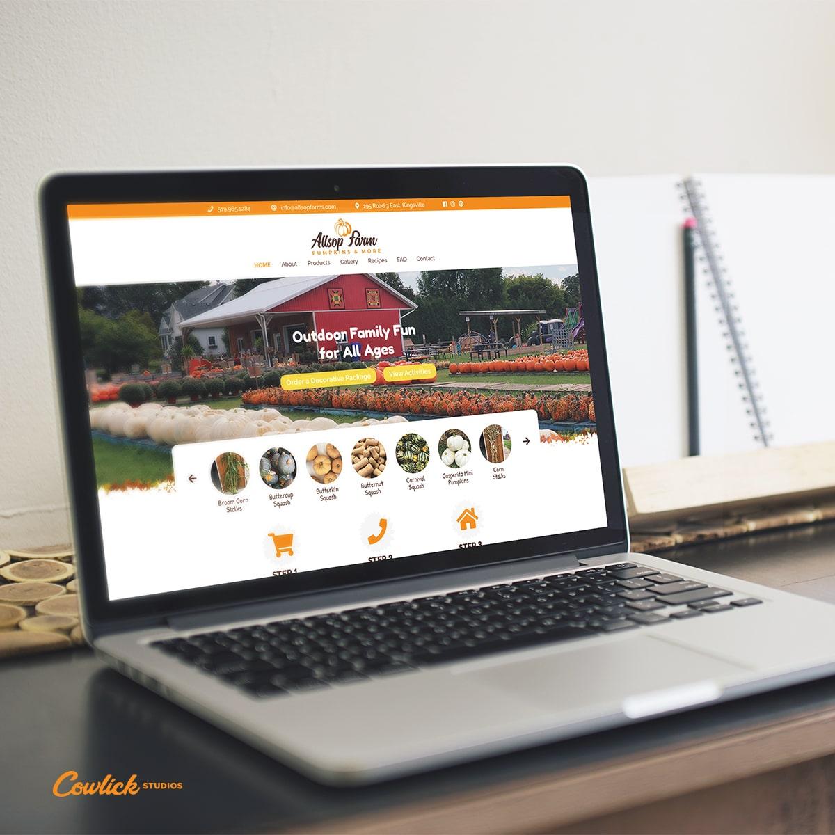 Allsop Farm Kingsville Website Design
