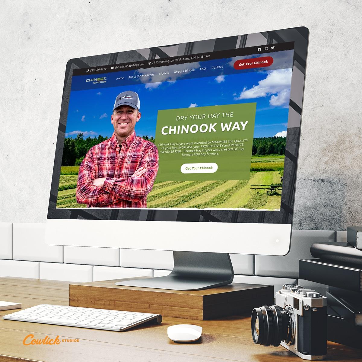 Chinook Hay Web Design Cowlick Studios