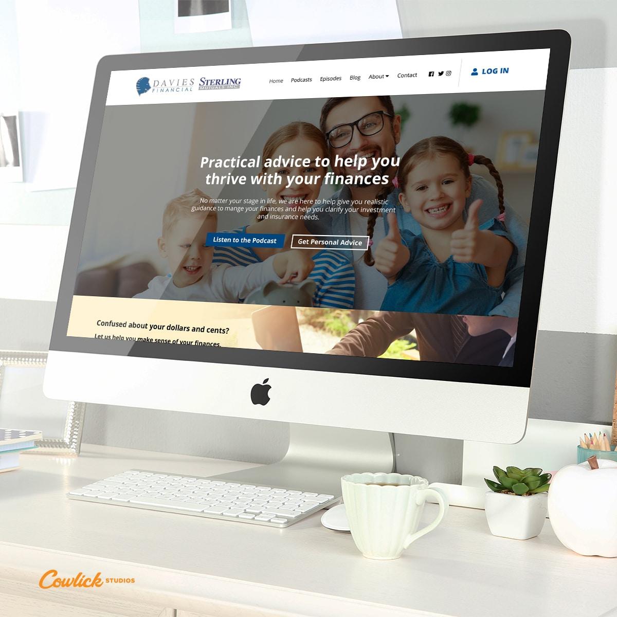 Davies Financial Web Design by Cowlick Studios Leamington