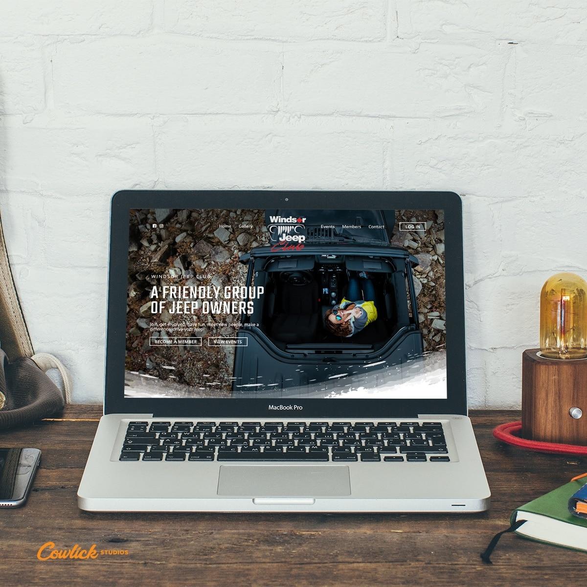 Jeep Club Website Design Windsor Cowlick Studios