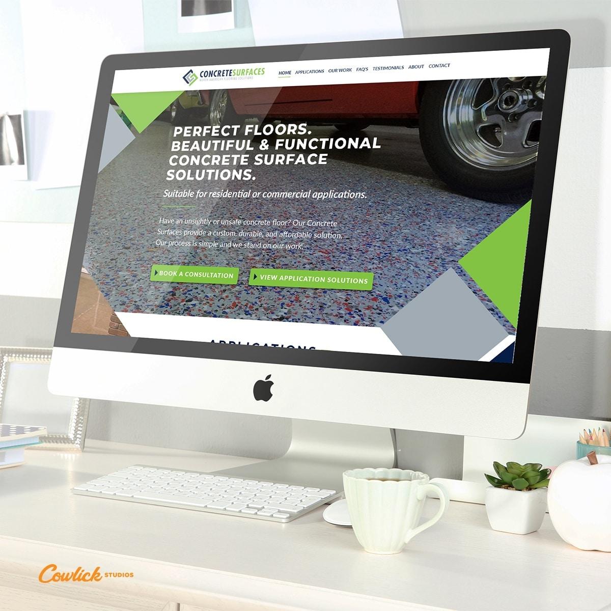 Web Design Wheatley - Canadian Concrete Surfaces Web Design