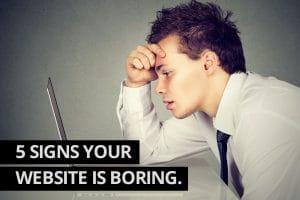 my website is boring