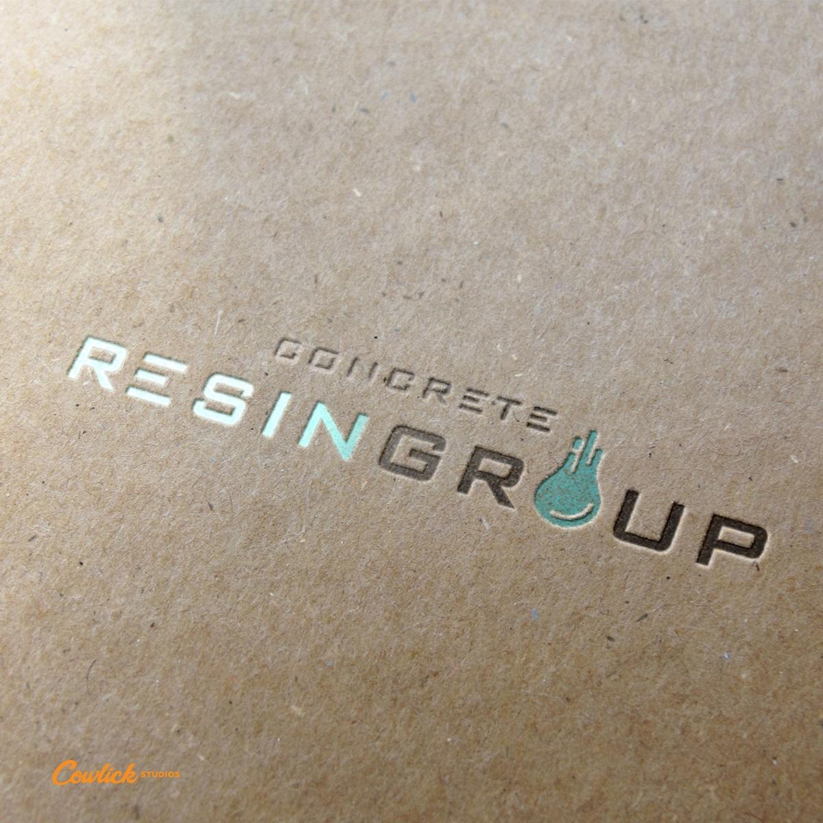 Concrete Resin Group Logo Design