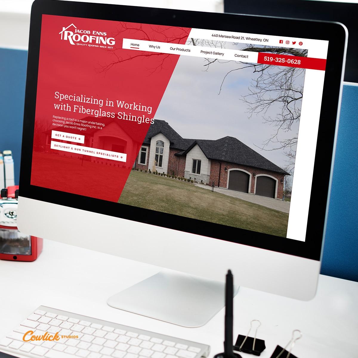 Web Design for Enns Roofing Leamington