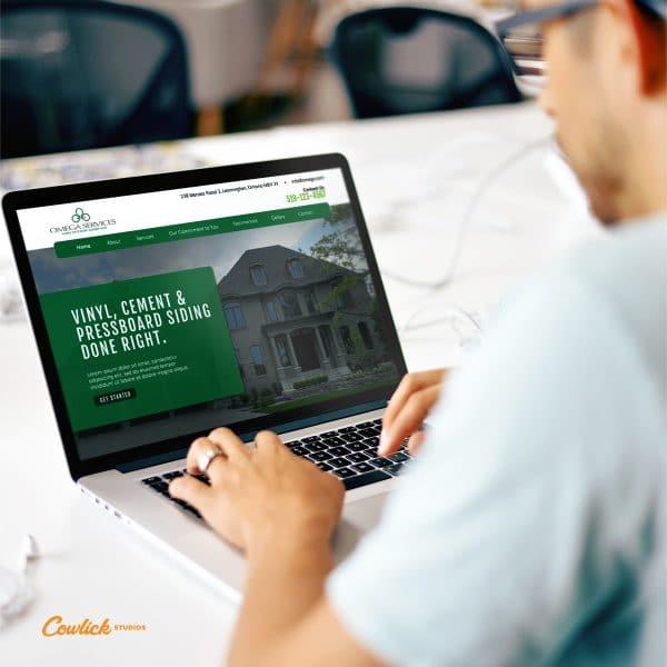 Omega Home Exteriors Web Design