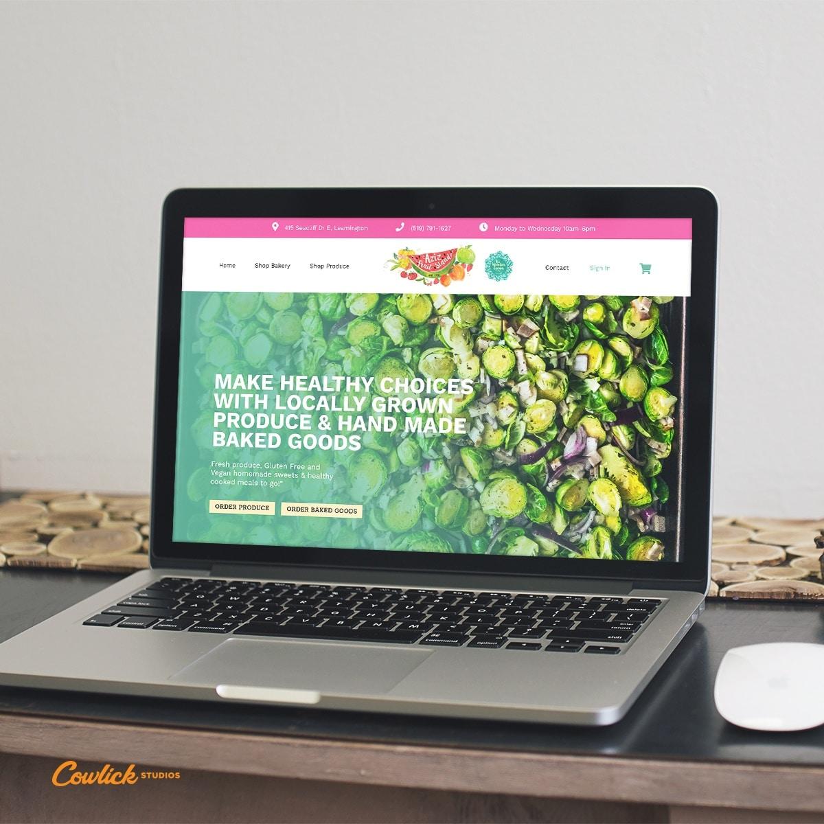Website Design Leamington - Aziz Fruti Stand Web Design